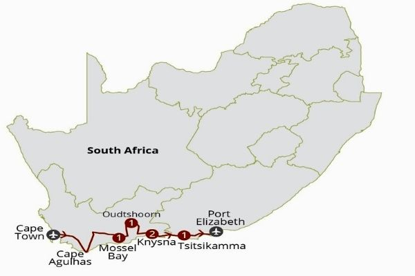 Garden Route Splendour map