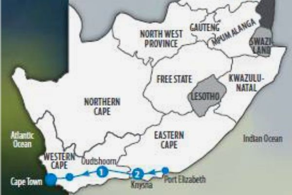 Garden Route Uncovered map
