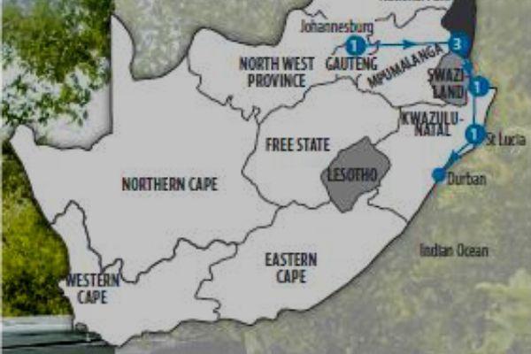 Kruger & Kingdoms map
