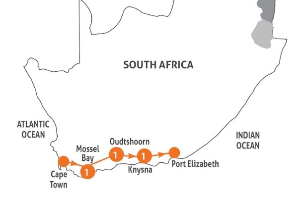 Magnificent Garden Route map